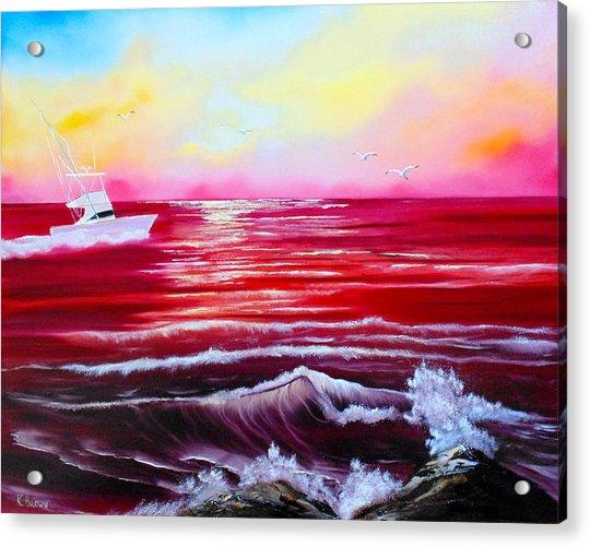 Red Seas Acrylic Print