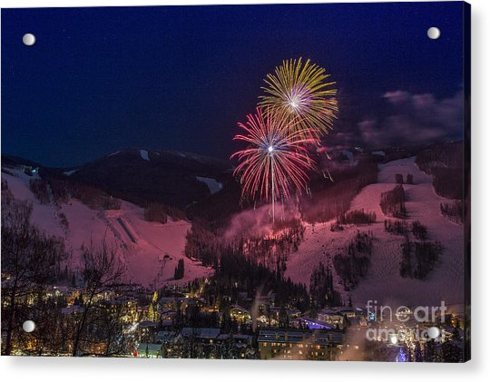 Red Vail Acrylic Print