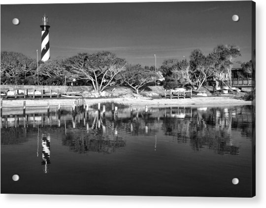 Acrylic Print featuring the photograph Reflecting Lighthouse  by Alice Gipson