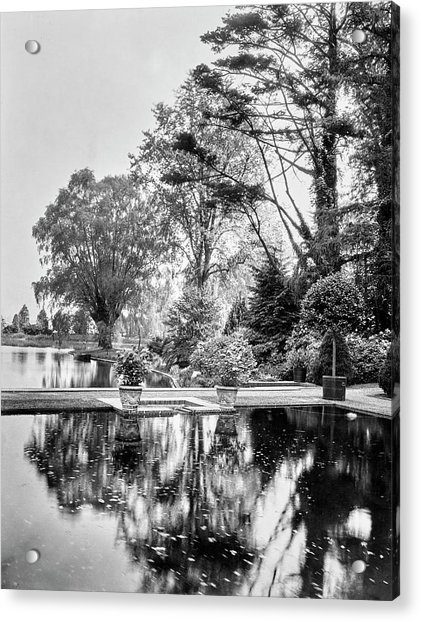 Reflecting Pool In Oyster Bay Acrylic Print