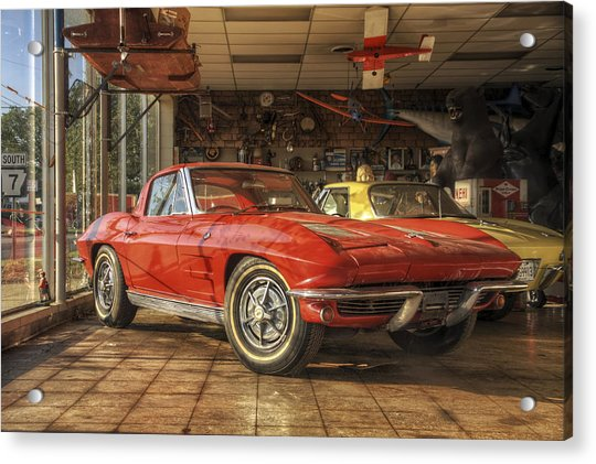 Acrylic Print featuring the photograph Relics Of History - Corvette - Elvis - Nehi by Jason Politte