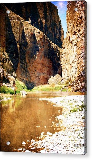 Rio Grande At Santa Elena Canyon Acrylic Print