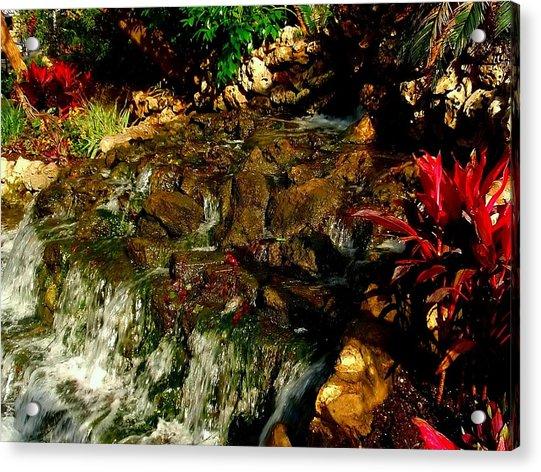 Riverwalk Fountain Acrylic Print