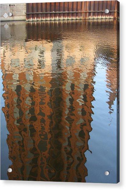 Riverwalk Reflection Acrylic Print