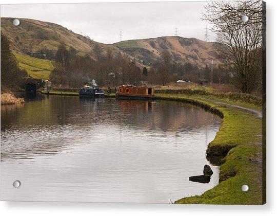 Rochdale Canal Near Walsden Acrylic Print