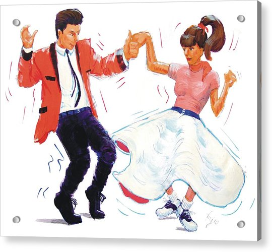 Rock And Roll Dancers Acrylic Print