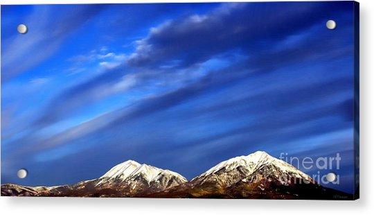 Rocky Mountain Storm Sky Acrylic Print