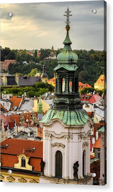 Rooftops Of Prague 1 Acrylic Print