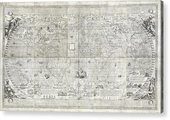 Rosaccio World Map Acrylic Print