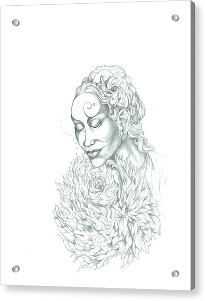 Rose Of Grace And Kindness Acrylic Print by Lydia Erickson