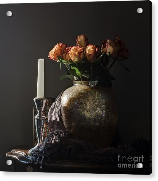 Roses In A Darkening Room Acrylic Print