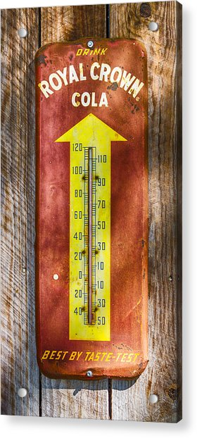 Acrylic Print featuring the photograph Royal Crown Barn Thermometer by Carolyn Marshall