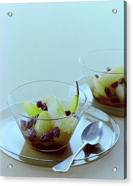 Rum Raisin Poached Pears Acrylic Print
