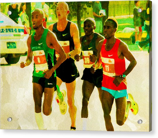 Acrylic Print featuring the photograph Runners by Alice Gipson