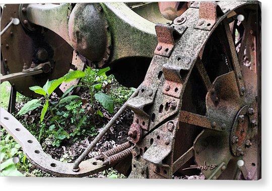 Rusted Axle Planter Acrylic Print