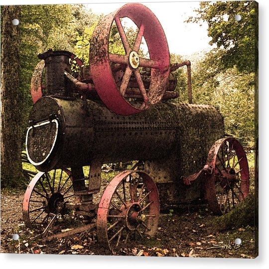 Rusty Antique Steam Engine Acrylic Print