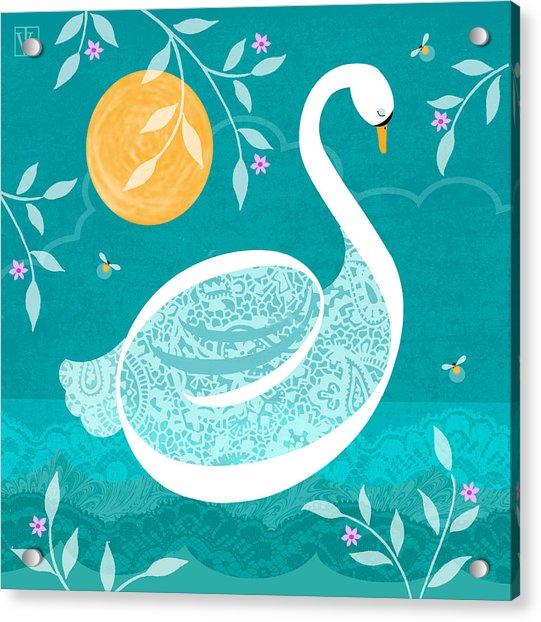 S Is For Swan Acrylic Print