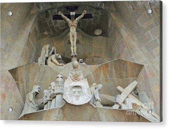 Sagrada Familia Crucifixion Acrylic Print