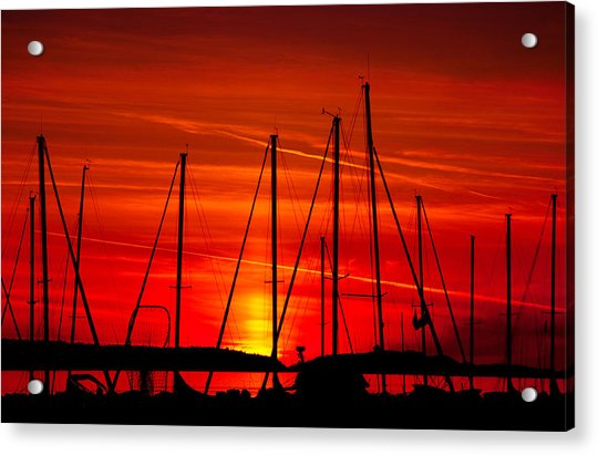 Sail Silhouettes Acrylic Print