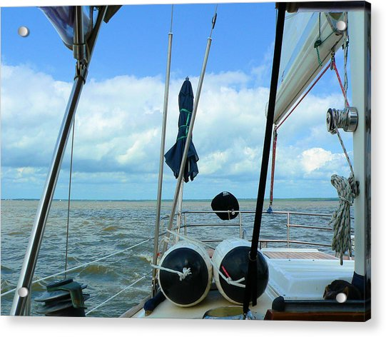 Sailboat View Horizontal Acrylic Print