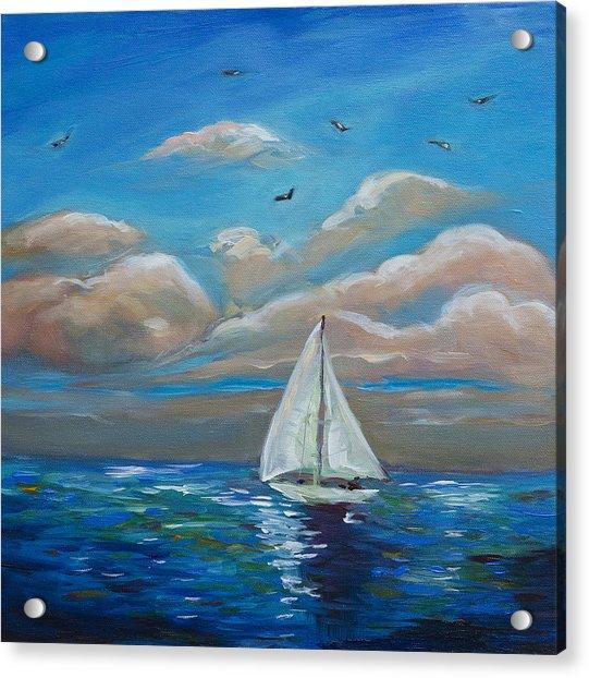 Sailing With My Dad Acrylic Print