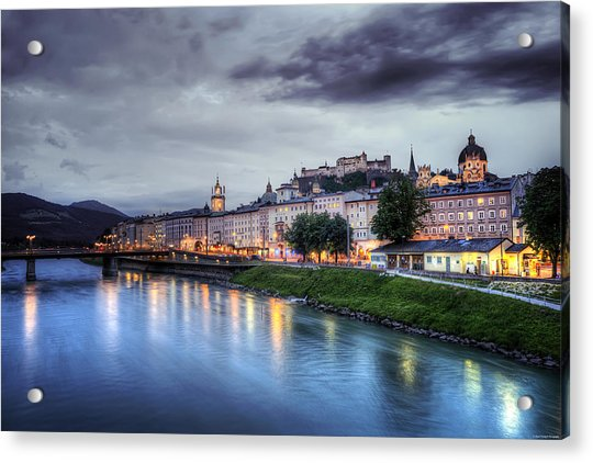 Salzburg Sunset Acrylic Print