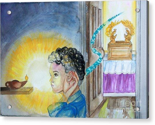 Samuel Hears The Lord Acrylic Print