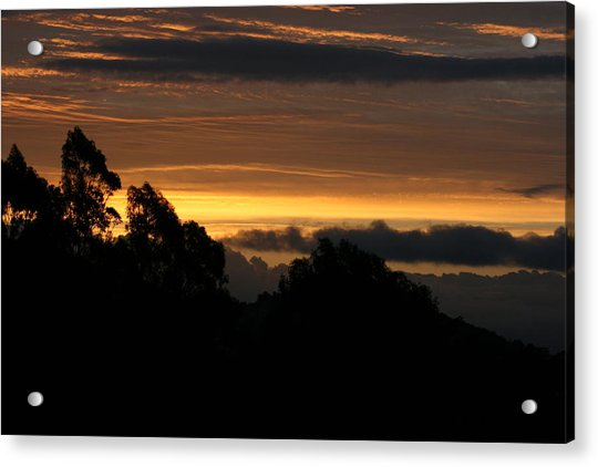 Acrylic Print featuring the photograph San Bruno Mountain Storm by Cynthia Marcopulos