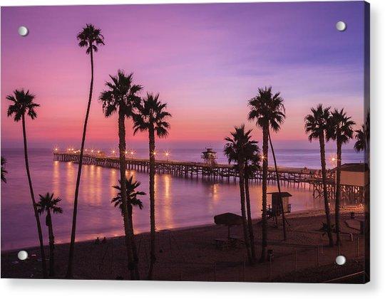 San Clemente Sunset Meditation Acrylic Print