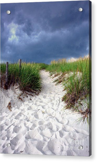 Sand Dune Under Storm Acrylic Print