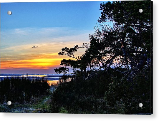 Sand Lake Sunset Acrylic Print