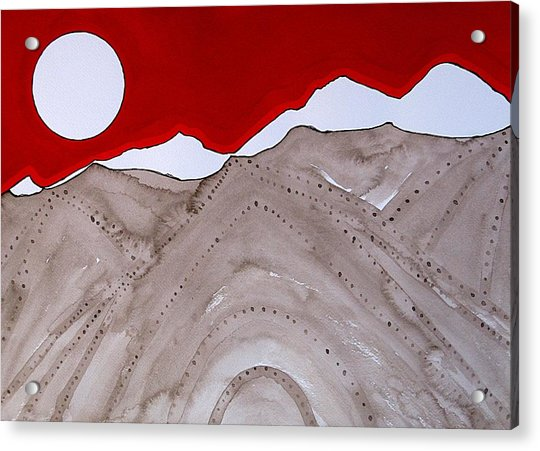 Sangre De Cristo Peaks Original Painting Acrylic Print