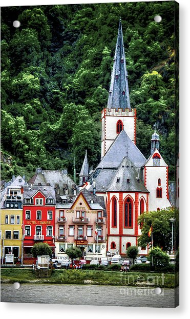 Sankt Goar On The Rhine Acrylic Print