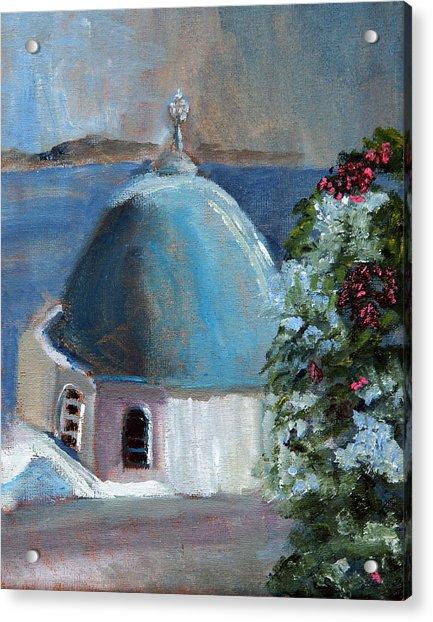 Santorini Greece Acrylic Print