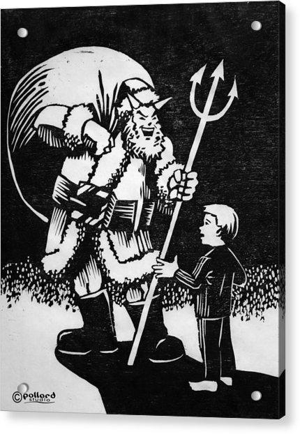 Satan Santa Acrylic Print