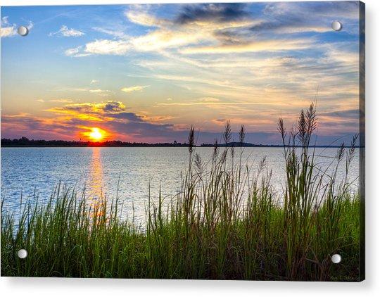 Savannah River At Sunrise - Georgia Coast Acrylic Print