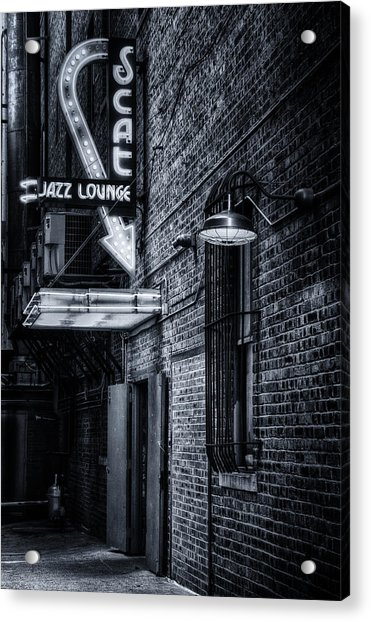 Scat Lounge In Cool Black And White Acrylic Print