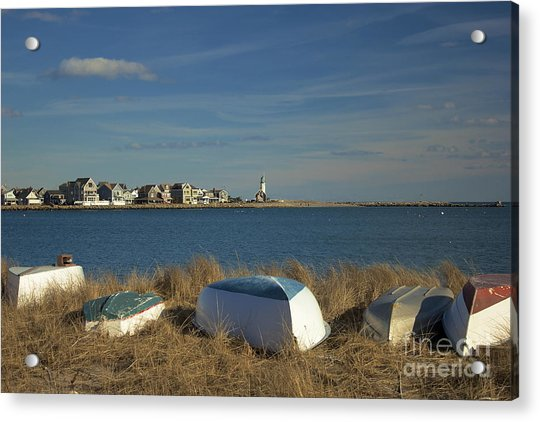 Scituate Harbor Boats Acrylic Print