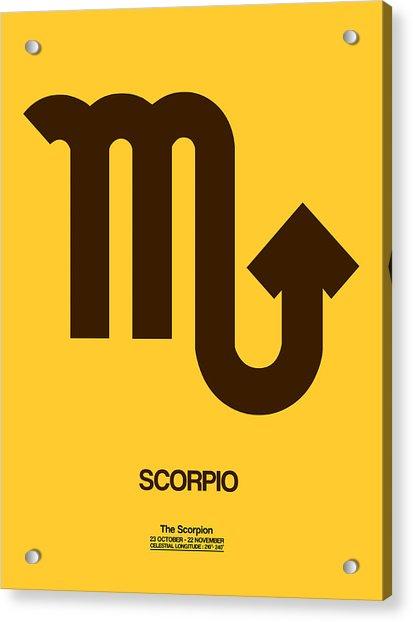 Scorpio Zodiac Sign Brown Acrylic Print