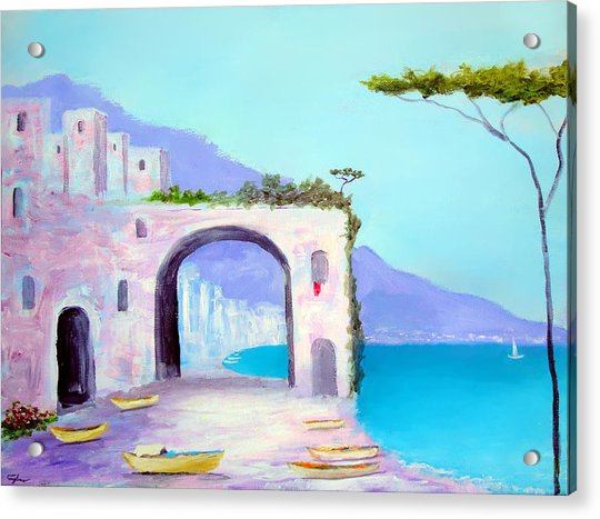 Seaside Colors Of Southern Italy Acrylic Print
