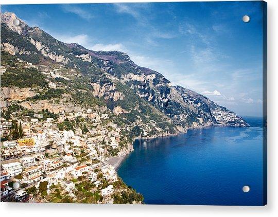 Seaside Town On The Amalfi Coast Acrylic Print
