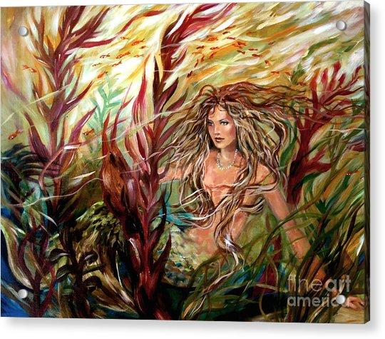 Seaweed Mermaid Acrylic Print