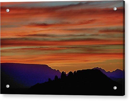 Sedona Az Sunset 2 Acrylic Print