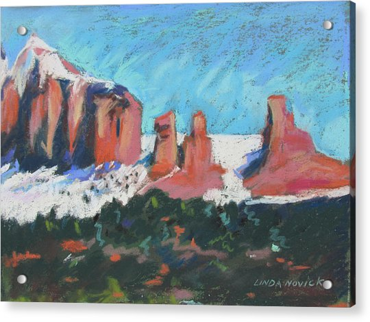 Sedona Snowfall Acrylic Print