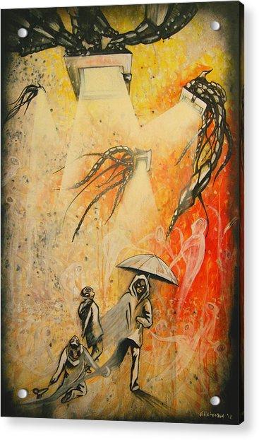 See Hear Speak No Evil Painting By Artist Ekaterina Chernova Acrylic Print