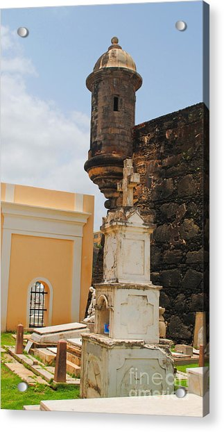 Sentinel Tower Over Graves Acrylic Print