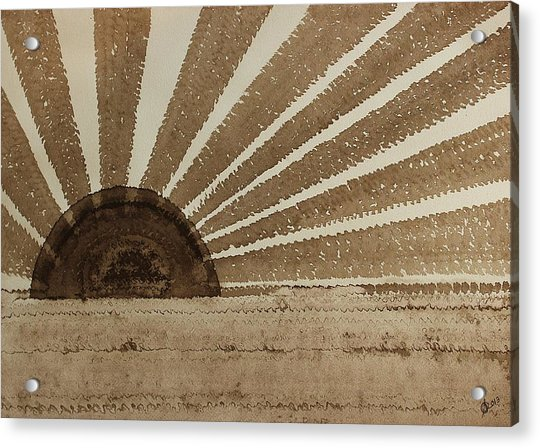 Sepia Sunset Original Painting Acrylic Print