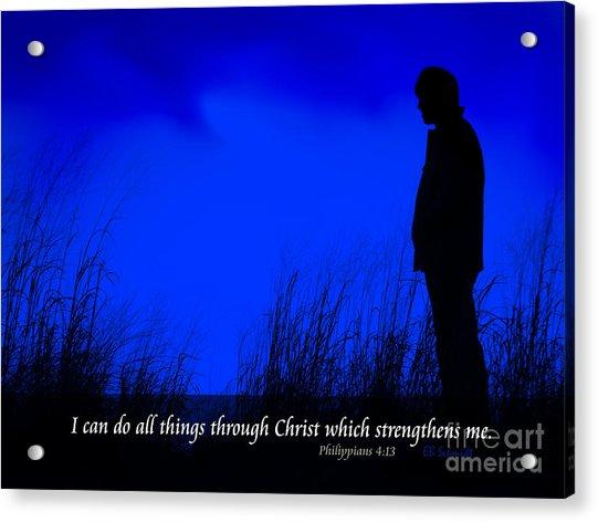 Serenity - Philippians 4 Acrylic Print