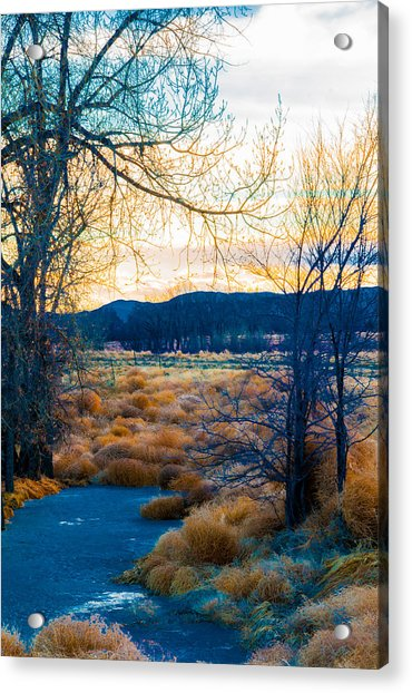 Setting Sun At Rocky Mountain Arsenal_2 Acrylic Print