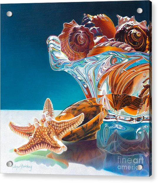 Shell Shocked Acrylic Print by Arlene Steinberg